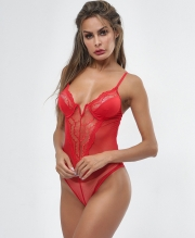 One Piece Lace Backless Teddies See Through Women Lingerie