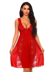 Wholesale Plus size lace lingerie sleepwear dress Chemises