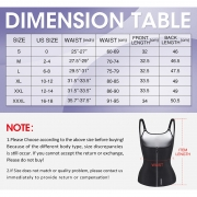 Women's Sweat Waist Trainer Corset Workout Slim Body Shaper
