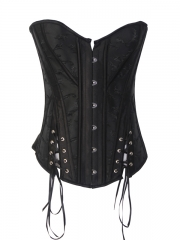 Ladies' Black Overbust Corset For Wholesale Sale
