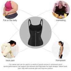 Top Sweat Vest Waist Training Corset Latex Slim Shaperwear