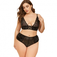 Plus size Sexy lingerie Pajama Set lace Sleepwear  For women