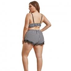 Plus Size Suit Lingerie Women Pajama shorts Sleepwear planty