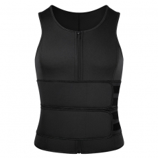 Men's Vest Double Belt Sweat  Waist Trainer Body Shapewear