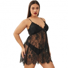 Sexy Deep V Plus Size lingerie Sleepwear BadyDolls Dress