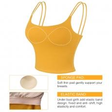 Push Up Sports Bra Fitness Women Plain Tank Top Vest Shirt