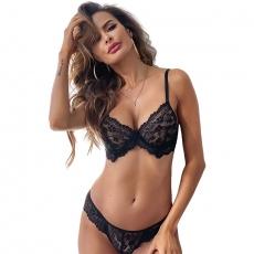 Women Sexy Lace Thin Cup Bra Set Female Underwear Fashion