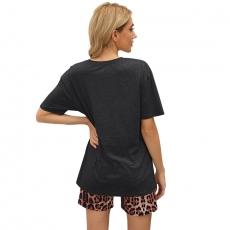 Leopard Print Pajamas Luxury Sleepwear Women Home Pajamas