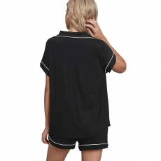 Women Pajamas Set Leisure Nightwear Short Sleeves Sleepwear