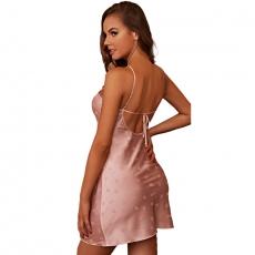 Long Dress Pajamas Loungewear Lingerie Women's Sleepwear