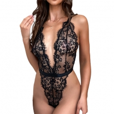 Women Lace BabyDolls Deep V Sexy Lingerie Pajama Teddies